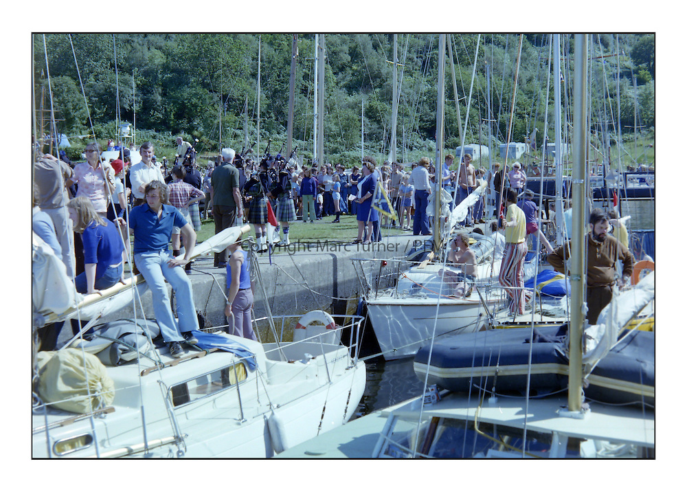 Historic Scottish Series Images <br /> <br /> Crinan Basin 1975<br /> <br /> Picture Copyright  PFM Pictures