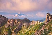 Mt. Rainier from Mt. Margaret Backcountry, Mt. St. Helens National Volcanic Monument, US, August 2004
