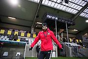 G&Ouml;TEBORG, SVERIGE - 2018-01-08: Andreas Alm, head coach i BK H&auml;cken under BK H&auml;ckens tr&auml;ning den 8 januari, 2018 p&aring; Bravida Arena i G&ouml;teborg, Sverige. Foto: Nils Petter Nilsson/Ombrello<br /> ***BETALBILD***