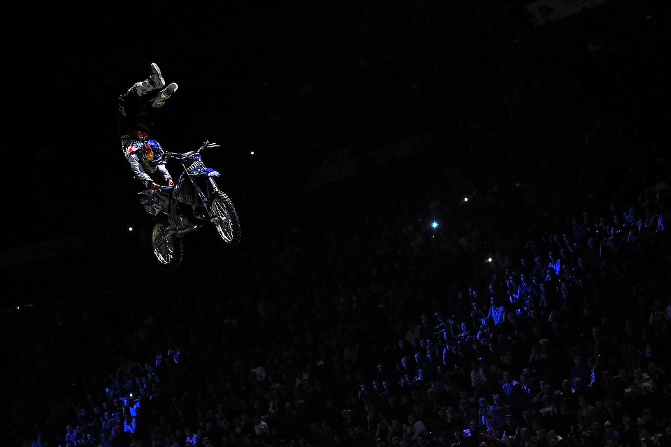 Tom Pages (FRA) lors du Supercross de Bercy 2012, le 11 Novembre 2012 au POPB.