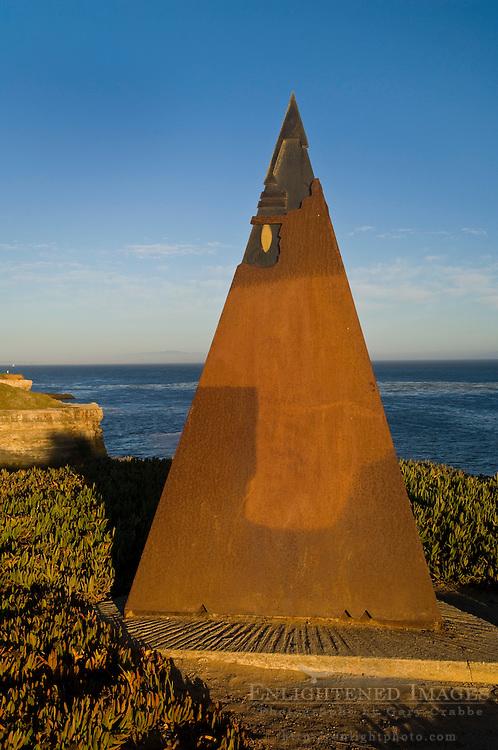 Public artwork along coastal bluffs, West Cliff Drive, Santa Cruz, California
