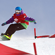 Conor Hayes, New Zealand, in action during the Duel Giant Slalom event at the Snow Sports NZ Junior Freeski and Snowboard Nationals at Cardrona Alpine Resort, Wanaka,  New Zealand, 27th September 2011. Photo Tim Clayton...