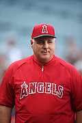 ANAHEIM, CA - AUGUST 2:  Mike Scioscia #14 manager of the Los Angeles Angels of Anaheim looks on during batting practice before the game against the Toronto Blue Jays on Friday, August 2, 2013 at Angel Stadium in Anaheim, California. The Angels won the game 7-5. (Photo by Paul Spinelli/MLB Photos via Getty Images) *** Local Caption *** Mike Scioscia