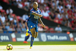 Wes Morgan of Leicester City in action - Mandatory byline: Jason Brown/JMP - 07966386802 - 07/08/2016 - FOOTBALL - Wembley Stadium - London, England - Leicester City v Manchester United - FA Community Shield