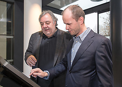 11.11.2016, Lienz, AUT, Einweihung Osttiroler Tourismushaus am Stegergarten, im Bild Werner Grissmann, Christoph Standl (Tourismus Interaktiv). EXPA Pictures © 2016, PhotoCredit: EXPA/ Johann Groder