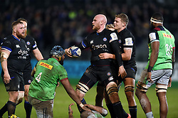 Matt Garvey of Bath Rugby earns a turnover for his side - Mandatory byline: Patrick Khachfe/JMP - 07966 386802 - 10/01/2020 - RUGBY UNION - The Recreation Ground - Bath, England - Bath Rugby v Harlequins - Heineken Champions Cup