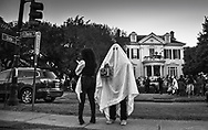 Trick-or-treating at a home on State Charles Ave in New Orleans on Halloween.