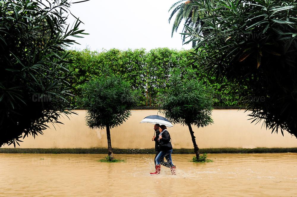 Marina di Carrara.Le strade dopo l'alluvione.<br />  Carrara, gioved&igrave; 6 novembre 2014 . Daniele Stefanini /  OneShot