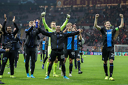 November 26, 2019, Galatasaray, Turkey: Club's players celebrate after a game between Turkish club Galatasaray and Belgian soccer team Club Brugge, Tuesday 26 November 2019 in Istanbul, Turkey, fifth match in Group A of the UEFA Champions League. (Credit Image: © Bruno Fahy/Belga via ZUMA Press)