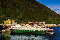 "n-Cruise ""Wilderness Adventurer"" docked in Juneau, Alaska USA."