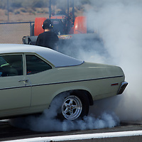 Burning rubber getting ready to start at the Albuquerque International Dragway.