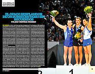 Tomas Gonzalez dans le magazine El Grafico Chile pour une double page.