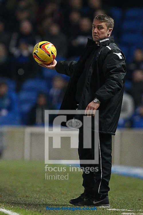 Picture by Paul Terry/Focus Images Ltd +44 7545 642257<br /> 11/01/2014<br /> Lee Clark, Manager of Birmingham City during the Sky Bet Championship match at the American Express Community Stadium, Brighton and Hove.