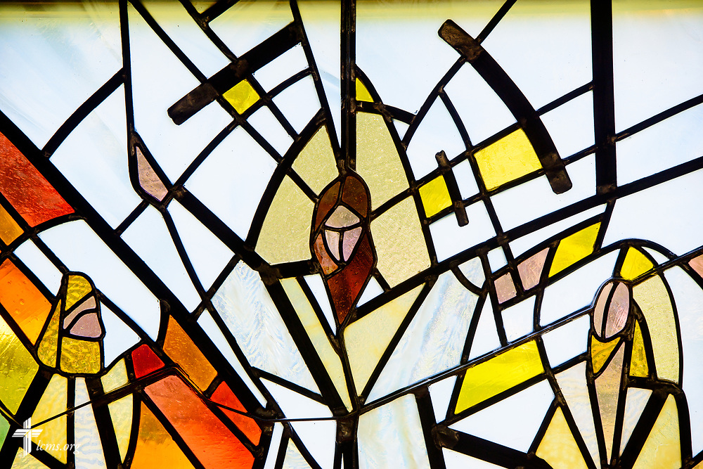 Stained glass at Lutheran Church of St. John, Quincy, Ill., on Sunday, June 11, 2017. LCMS Communications/Erik M. Lunsford