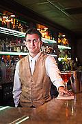 Bartender, Bern's Steakhouse, photographed for Garden & Gun Magazine.