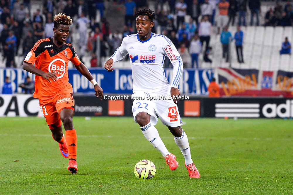 Michy BATSHUAYI - 24.04.2015 - Marseille / Lorient - 34eme journee de Ligue 1<br />