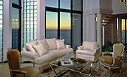 Sea Side, Living, Room, Modern, Interior, Sunset, Glass, Block, Awesome, carpet, house, home, lifestyle, decor,