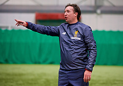 LIVERPOOL, ENGLAND - Wednesday, February 7, 2018: Robbie Fowler during a media session at the Liverpool Academy ahead of the LFC Foundation charity match between a Liverpool FC Legends team and FC Bayern Munich Legends. (Pic by David Rawcliffe/Propaganda)
