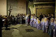 Child impersonating angels during the procession. Verbicaro, Italy. April 18th, 2014. Federico Scoppa