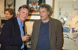 Left to right, MICHAEL PALIN and SIR TOM STOPPARD at a party to celebrate the publication of Drawing Blood -Forty-Five Years of Scarfe Uncensored, a book of Gerald Scarfe's work held at The Fine Arts Society, New Bond Street, London on 3rd November 2005.<br /><br />NON EXCLUSIVE - WORLD RIGHTS