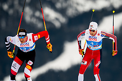 February 24, 2019 - Seefeld In Tirol, AUSTRIA - 190224 Bernhard Gruber of Austria and Jarl Magnus Riiber of Norway compete in men's nordic combined team sprint during the FIS Nordic World Ski Championships on February 24, 2019 in Seefeld in Tirol..Photo: Vegard Wivestad GrÂ¿tt / BILDBYRN / kod VG / 170297 (Credit Image: © Vegard Wivestad Gr¯Tt/Bildbyran via ZUMA Press)