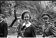Belgian Royals King Baudouin and Queen Fabiola at Trinity College Dublin..15.05.1968