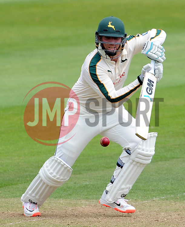 Nottinghamshire's Brendan Taylor drives the ball off the bowling of Somerset's Alfonso Thomas. - Photo mandatory by-line: Harry Trump/JMP - Mobile: 07966 386802 - 14/06/15 - SPORT - CRICKET - LVCC County Championship - Division One - Day One - Somerset v Nottinghamshire - The County Ground, Taunton, England.
