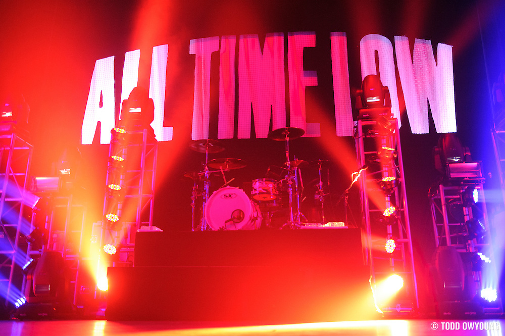 Photos of the pop punk band All Time Low performing at the Pageant in St. Louis on April 5, 2011