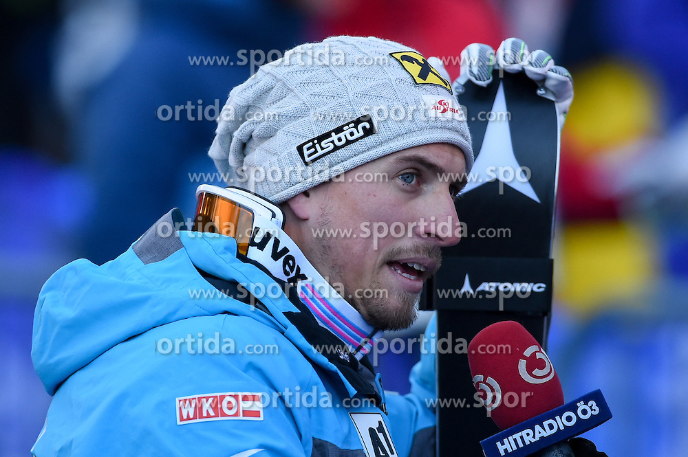 16.12.2016, Saslong, St. Christina, ITA, FIS Weltcup Ski Alpin, Groeden, Abfahrt, Herren, im Bild Max Franz (AUT) // Max Franz of Austria reacts after his run of men's downhill of FIS Ski Alpine World Cup at the Saslong in St. Christina, Italy on 2016/12/16. EXPA Pictures © 2016, PhotoCredit: EXPA/ Erich Spiess