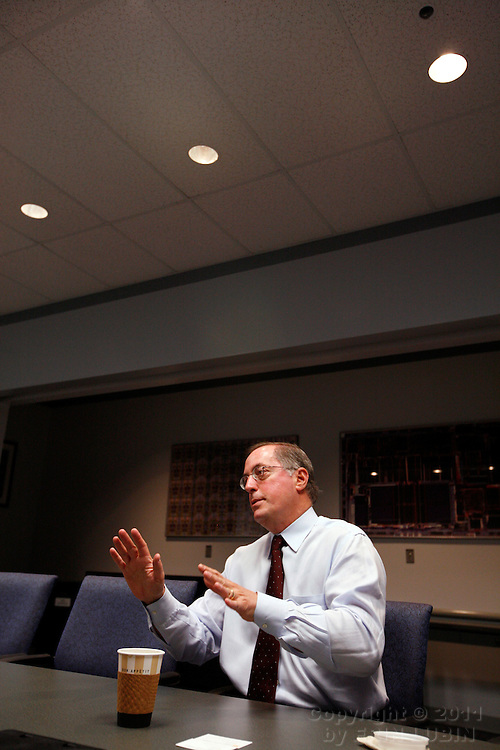 Paul Otellini, Chief Executive Officer of Intel, at the Intel Headquarters in Santa Clara, California, Tuesday, July 10, 2007...Photo by Erin Lubin
