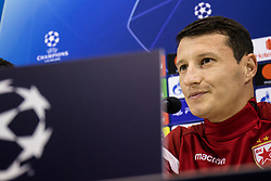 November 27, 2018 - Naples, Italy - Player Slavoljub Srnic Press Conference Red Star Belgrade at Stadium S. Paolo, before of match SSC Naples v Red Star Belgrade, UEFA Champions November 27,2018, Naples, Italy  (Credit Image: © Paolo Manzo/NurPhoto via ZUMA Press)
