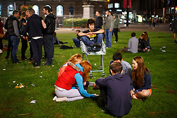 © Licensed to London News Pictures. 19/09/2014. Glasgow, UK. 'Yes' voters and campaigners meeting at George Square in Glasgow as they wait for the results of the Scottish independence referendum on Thursday, 18 September 2014. Photo credit : Tolga Akmen/LNP