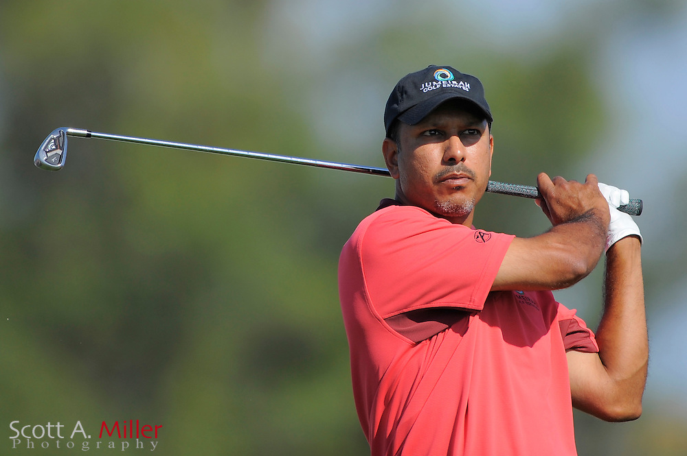 March 29, 2009; Orlando, FL, USA; Jeev M. Singh on the 14th hole during the final round of the Arnold Palmer Invitational at the Bay Hill Club and Lodge. ©2009 Scott A. Miller