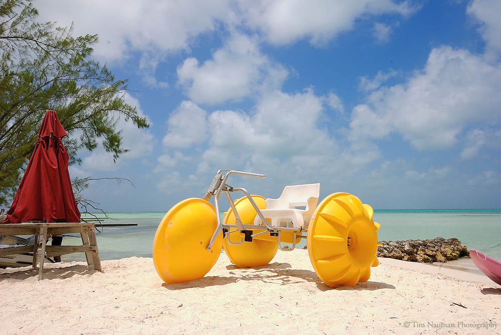 huge paddle boat on the beach in Grand Cayman