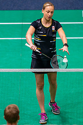Selena Piek in action during the Dutch Championships Badminton on February 2, 2020 in Topsporthal Almere, Netherlands