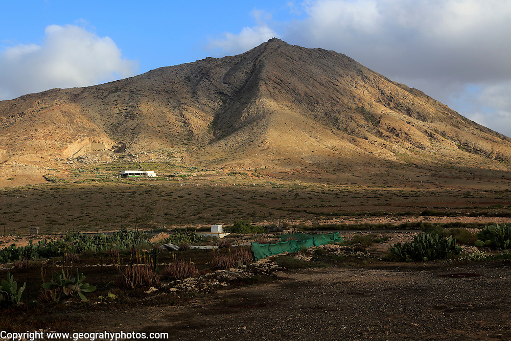 Sacred mountain Montana de Tindaya, Fuerteventura, Canary Islands, Spain