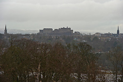 Pictured: Edinburgh Castle from Braid Hills Drive<br /> <br /> Edinburgh was hit with snow this morning but Edinburgh Castle just ignored the fuss and carried on as usual <br /> <br /> Ger Harley | EEm 16 January 2018