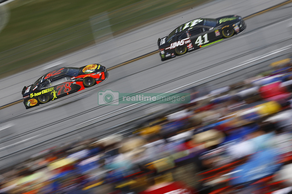 April 29, 2018 - Talladega, Alabama, United States of America - Martin Truex, Jr (78) brings his race car down the front stretch during the GEICO 500 at Talladega Superspeedway in Talladega, Alabama. (Credit Image: © Chris Owens Asp Inc/ASP via ZUMA Wire)