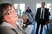 Deplacement de Dominique de Villepin  a Montpellier dans le cadre de la campagne présidentielle 2012