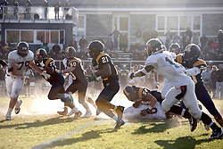 "And the 127th rendition of the ""oldest uninterrupted schoolboy football rivalry in the United States"" was off and running. (Bas Slabbers/for NewsWorks)<br /> <br /> http://www.newsworks.org/index.php/local/item/61732-127th-pcga-day-ends-with-thrilling-football-game-overall-tie-gallery"