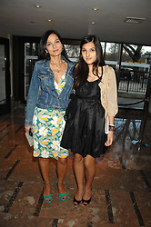 Left to right, YASMIN MILLS and her daughter LAUREN MILLS at a party to celebrate the publication of Lisa B's book 'Lifestyle Essentials' held at the Cook Book Cafe, Intercontinental Hotel, Park Lane London on 10th April 2008.<br />