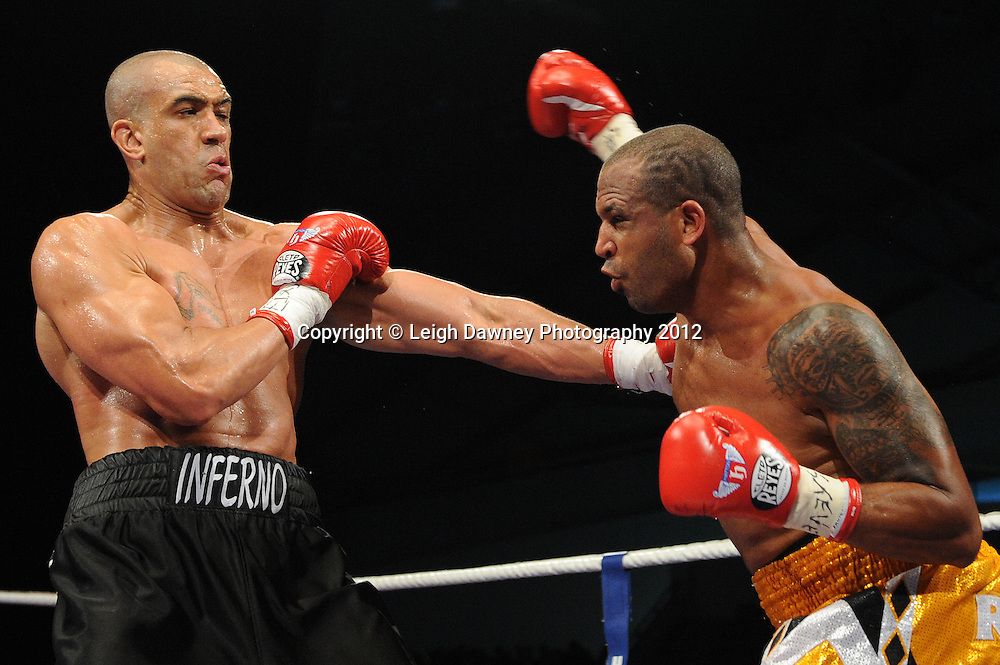 Richard Towers defeats Tony Gregory in a 12x3 min round contest to claim the vacant EBU Eurpoean Heavyweight Title at the Velodrome, Manchester on the 16.06.12. Hatton Promotions. ©Leigh Dawney Photography 2012.