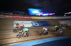Riders during the final chase during day six of the Six Day Series at Lee Valley Velopark, London