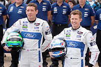 Richard Westbrook (GBR) / Ryan Briscoe (AUS) #69 Ford Chip Ganassi Racing Team USA Ford GT,  during the Le Mans 24 Hr June 2016 at Circuit de la Sarthe, Le Mans, Pays de la Loire, France. June 12 2016. World Copyright Peter Taylor/PSP.