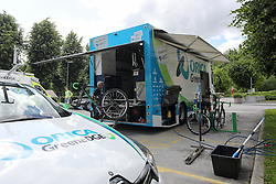 Orica GreenEdge truck on the parking lot before press conference of cycling race Po Sloveniji - Tour de Slovenie 2015 on June 15, 2016 in Hotel Jama, Postojna, Slovenia. Photo by Morgan Kristan / Sportida
