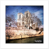 Notre-Dame de Paris, France - Colour version. Inkjet pigment print on Canson Infinity Rag Photographique 310gsm 100% cotton museum grade Fine Art and photo paper.<br />