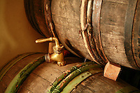 old barrels in the cellars of Janisson-Baradon.Epernay, France...Photo by Owen Franken for the NY Times..May 17, 2008