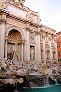 Statues at Rome's Fontana de Trevi