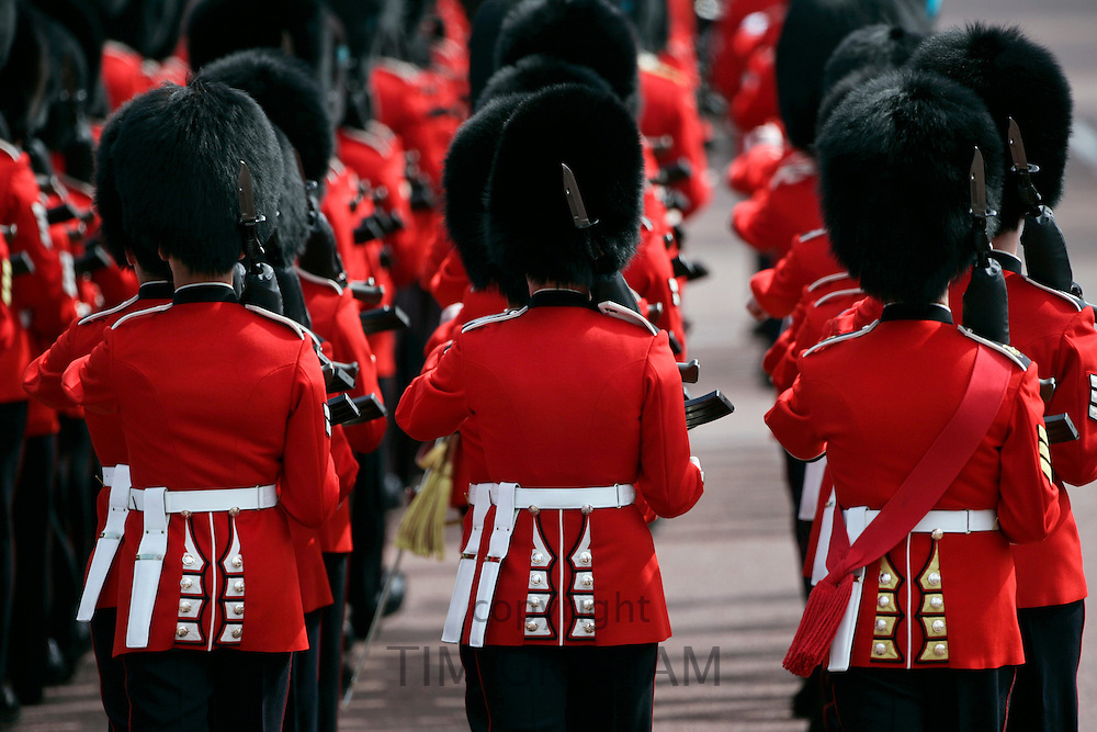 Guardsmen marching in London, UK