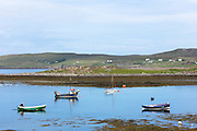 Fishermen's fishing boats in Old Dornie Harbour near the Summer Isles, part of the Inner Hebrides,  on the West Coast of Scotland